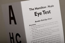 The Hamilton-Veale contrast sensitivity test and chart